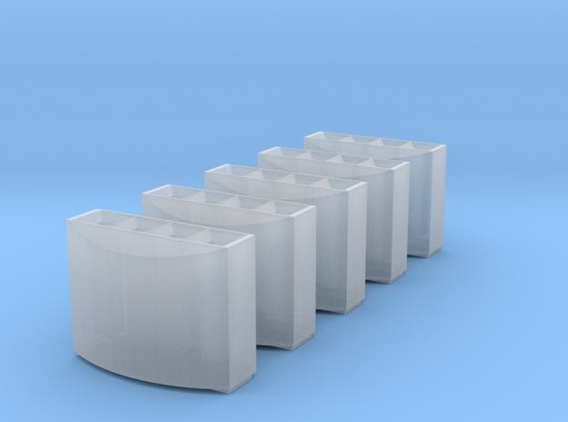 DB Mülleimer 5x 1:160 / modern trash bin in Frosted Ultra Detail