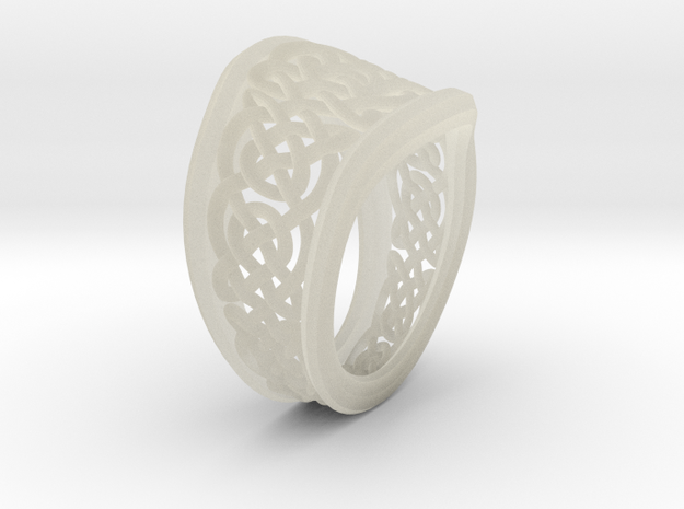 Another Celtic Knot Ring in Transparent Acrylic