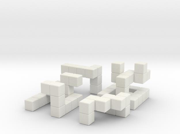 Quaturnery Qube in White Natural Versatile Plastic