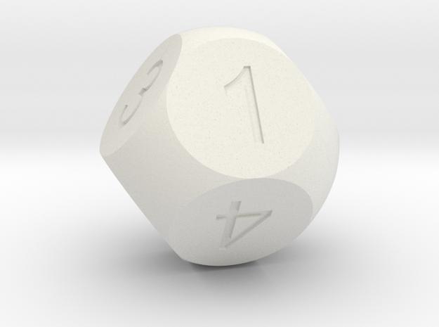 D8 Sphere Dice in White Natural Versatile Plastic