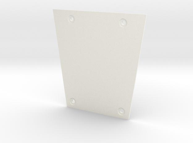 Babylon 5 Communicator Bottom Plate in White Processed Versatile Plastic