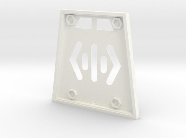 Babylon 5 Communicator Top Shell in White Processed Versatile Plastic
