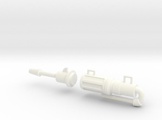 Blaster in White Processed Versatile Plastic