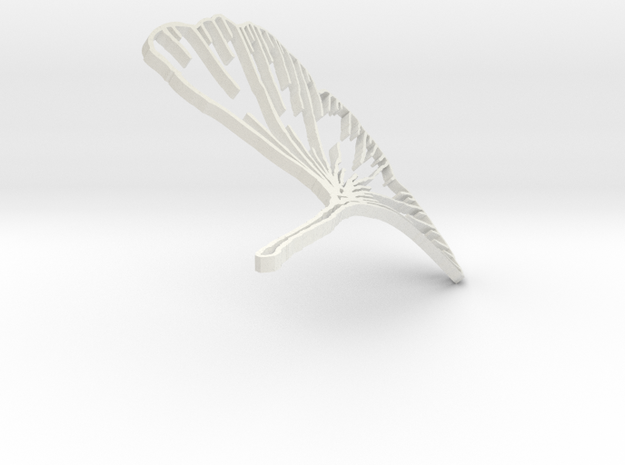 Ginkgo Earring in White Natural Versatile Plastic