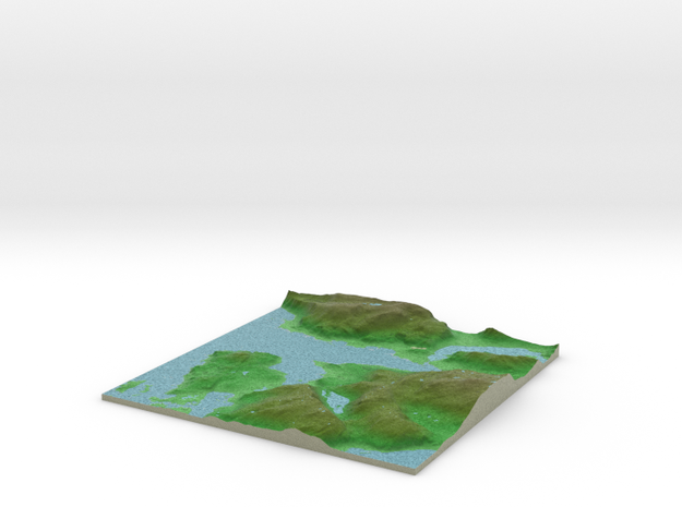 Terrafab generated model Mon Nov 11 2013 00:29:24 3d printed