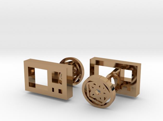 Golden Ratio Cufflinks 3d printed
