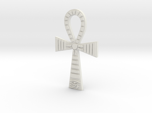 Egyptian Ankh Pendant in White Strong & Flexible
