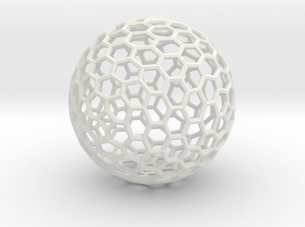 Sphere194 in White Natural Versatile Plastic
