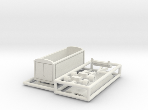 Packwagen 6,5 m - 1:220 (z scale) in White Natural Versatile Plastic