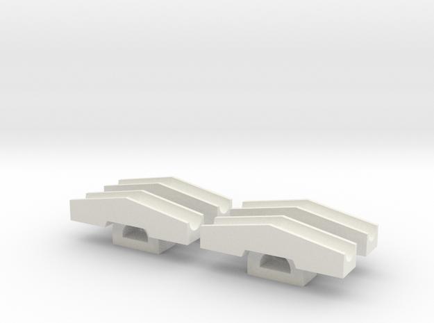 Schneeschieber 1:220 tiefere Version in White Natural Versatile Plastic