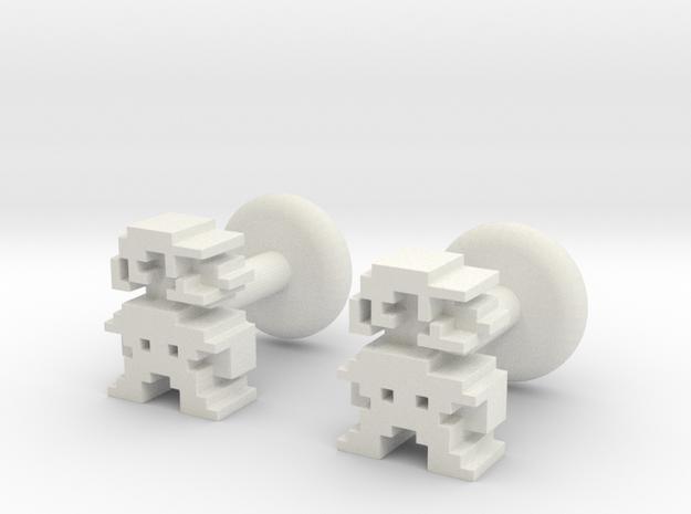 Plumber Cufflink in White Natural Versatile Plastic