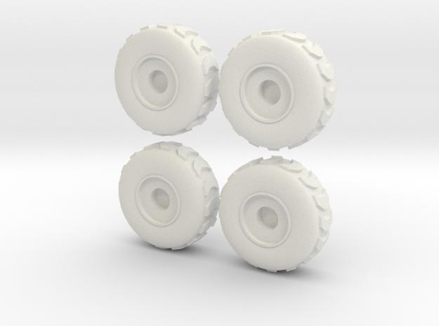 Tire Set 002 - 28mm in White Natural Versatile Plastic