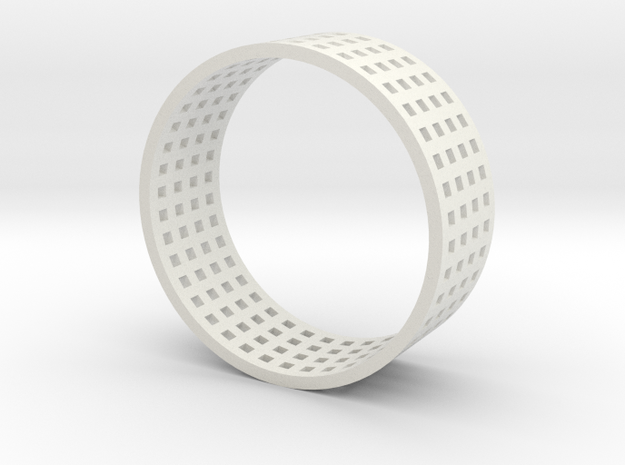 Grid ring 3d printed