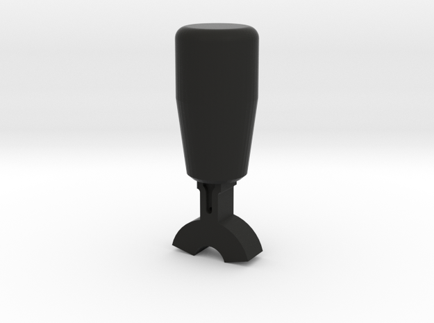 Train Cab Switch Casing (cylinder, two side) in Black Natural Versatile Plastic