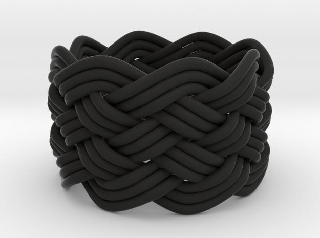 Turk's Head Knot Ring 6 Part X 8 Bight - Size 5.5 3d printed