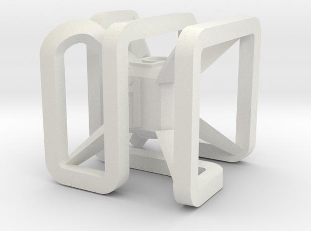 x dice in White Natural Versatile Plastic