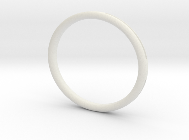 Groove Bangle in White Strong & Flexible