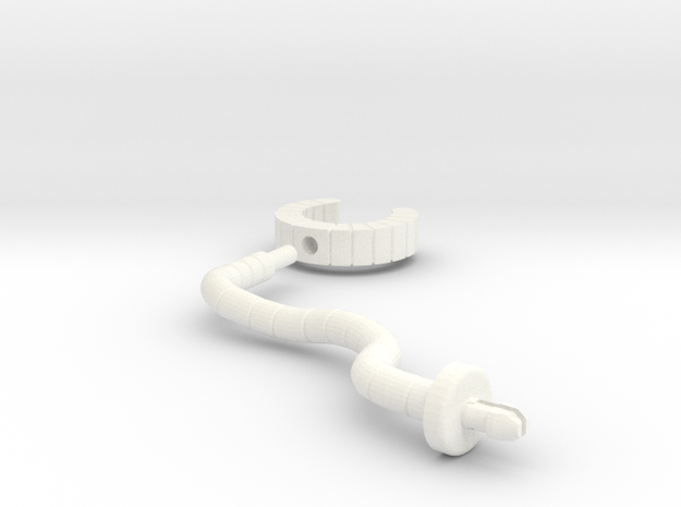 Robot Knight Shackles in White Processed Versatile Plastic
