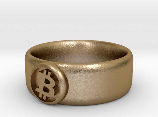 Bitcoin Ring (BTC) - Size 11.0 (U.S. 20.57mm dia) 3d printed