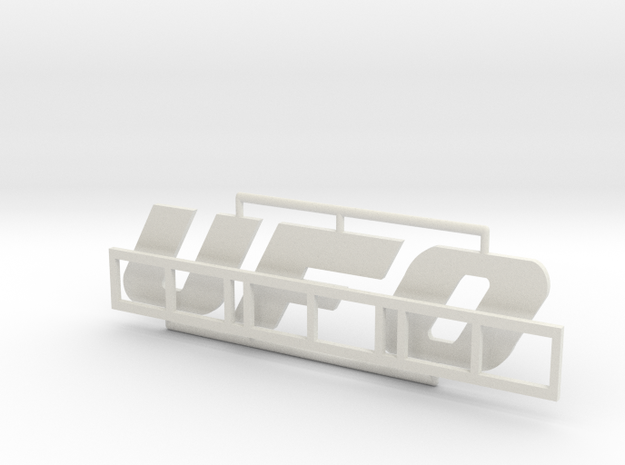 "Logo ""UFO"" für 1:87 (H0 scale) in White Strong & Flexible"