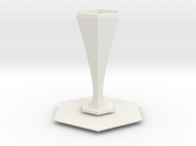 peel vase in White Natural Versatile Plastic