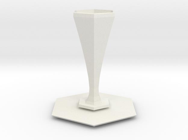 peel vase in White Natural Versatile Plastic
