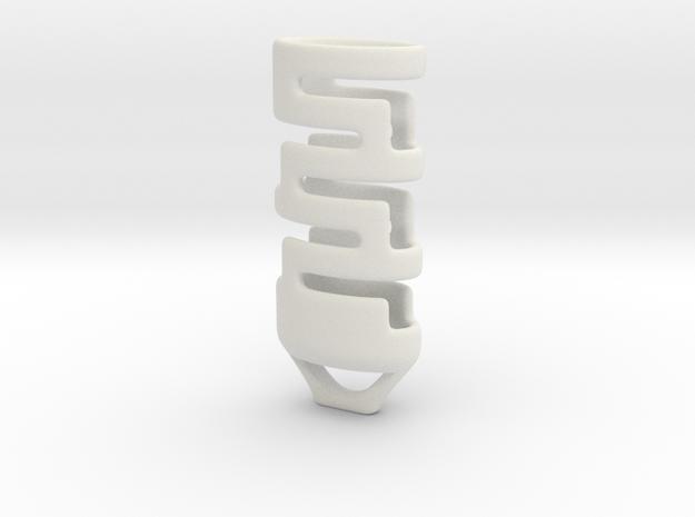 Mini bic lighter cape in White Natural Versatile Plastic