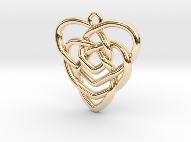 Mother's Knot Pendant 30mm Length 3d printed