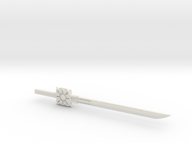 Drift Sword in White Natural Versatile Plastic