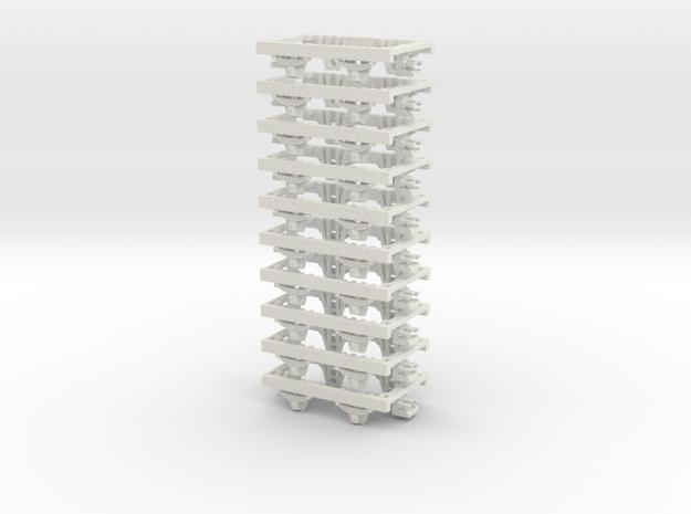 OO9 underframe (short) 10 pack 3d printed
