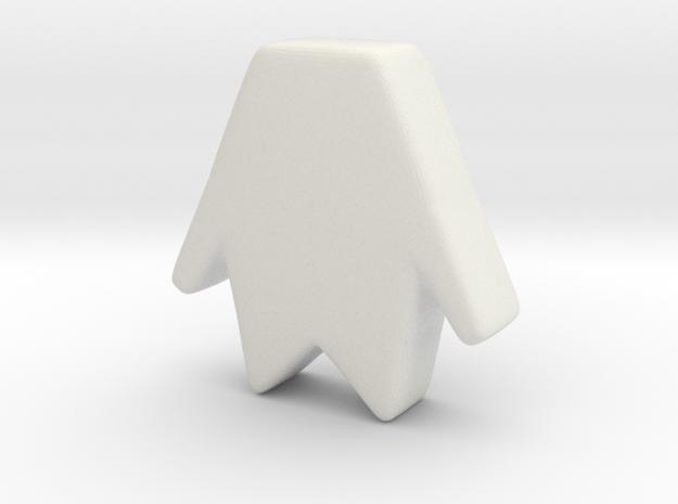 Big Fantasmico in White Natural Versatile Plastic