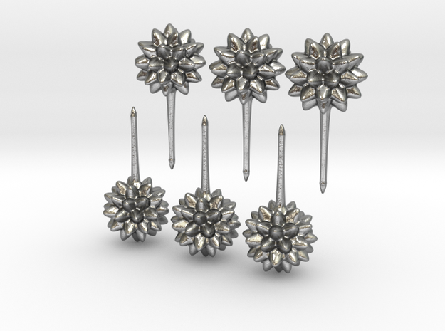 Simple Starburst Earrings_HR 3Pair 3d printed