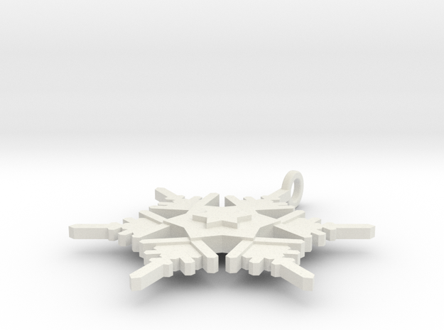 Snowflake Pendant Geni in White Natural Versatile Plastic