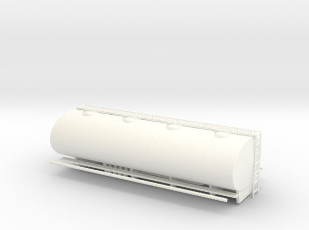 1:43 Elliptical Fuel Tank for AEC in White Processed Versatile Plastic