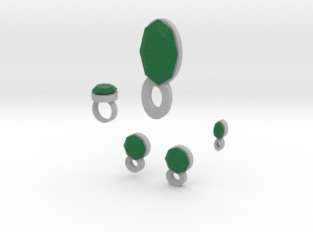 Lara Emerald Jewelry Set 3d printed