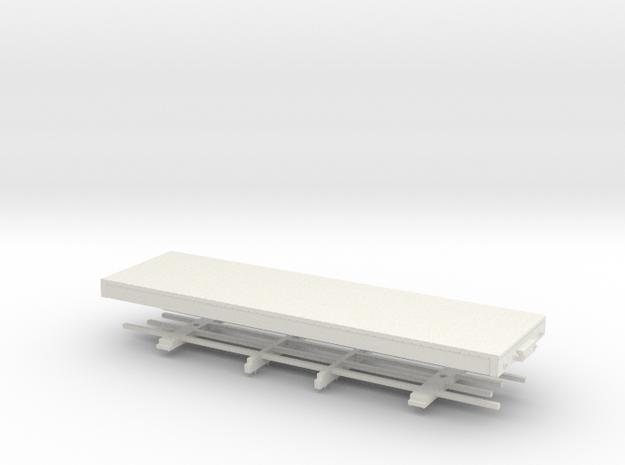 HOn30 24 ft Underframe in White Strong & Flexible
