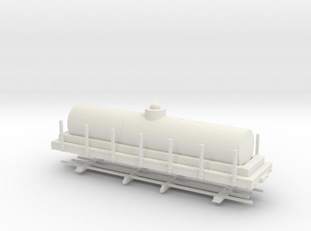 """HOn30 28ft tank car 4'8"""" diameter  in White Strong & Flexible"""