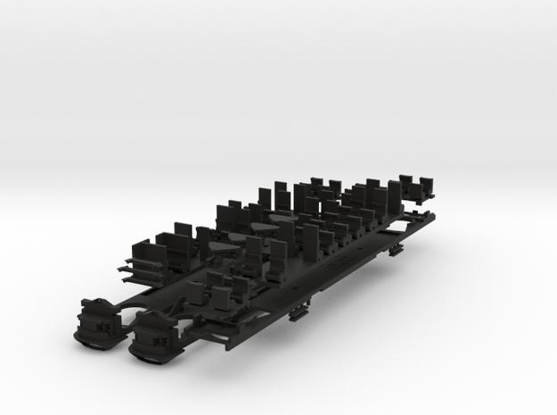 Plan U n-schaal (1:160) bodems met stoelen 3d printed