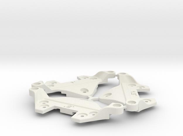 F1 Camber Block Set in White Natural Versatile Plastic