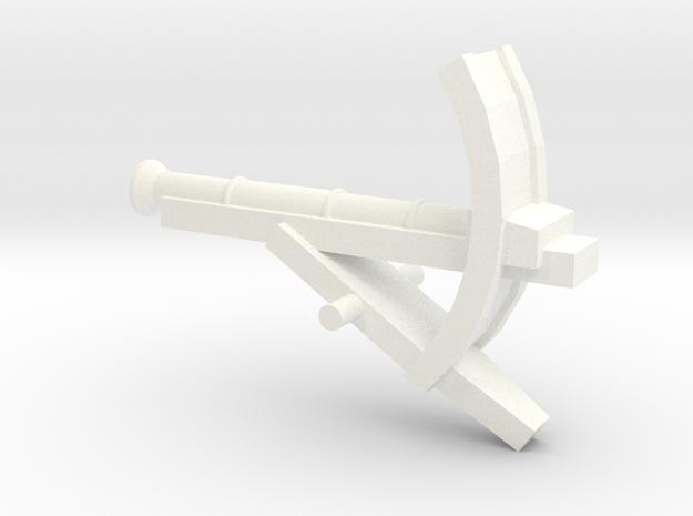 Martian Small Gun - 28mm in White Processed Versatile Plastic