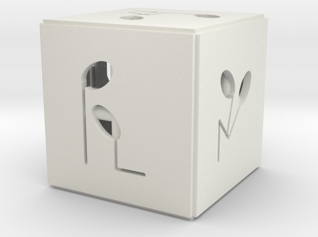econo dice in White Natural Versatile Plastic