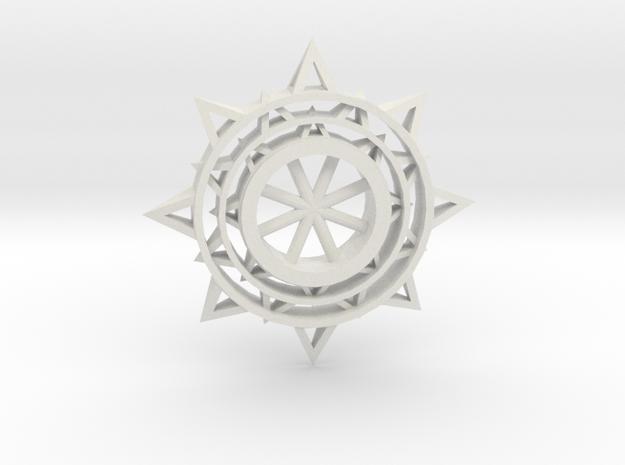 Sun Keychain m3 in White Natural Versatile Plastic