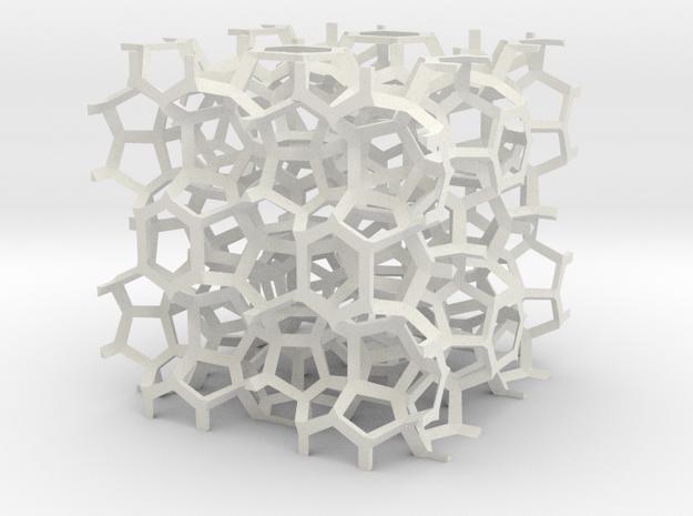 Weaire-Phelan skeleton 3d printed