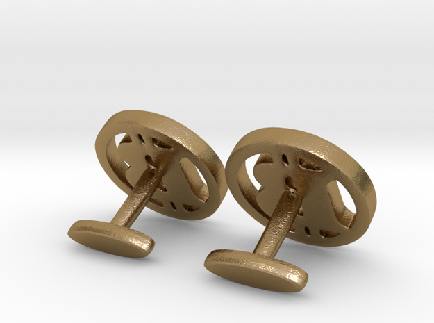 2 Bitcoin Cufflinks 3d printed