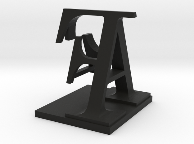 Two way letter / initial A&F 3d printed