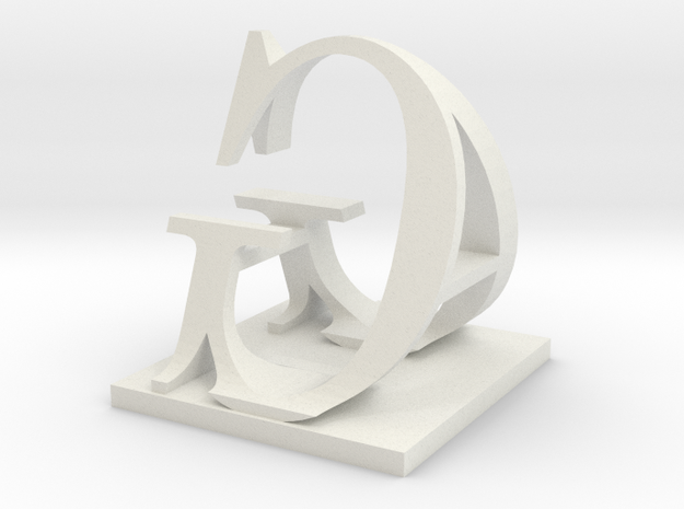 Two way letter / initial A&G 3d printed