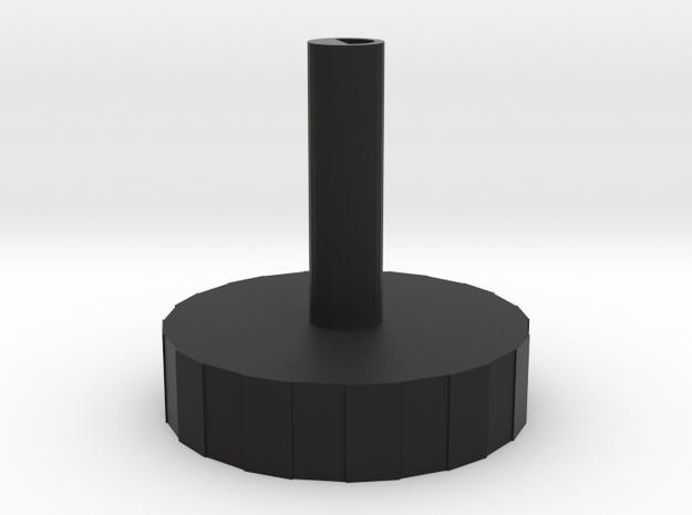 Tuning Dial 3d printed Rendered in Black