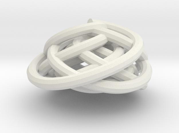 Swirl (16) in White Natural Versatile Plastic