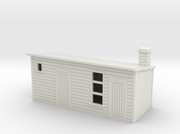 Outhouse For  Old Style House and Officers house1: in White Natural Versatile Plastic
