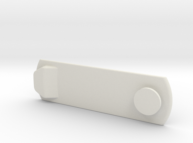 """Hidden """"Anything"""" Mini Mount Plate in White Natural Versatile Plastic"""